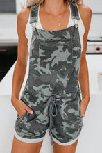 Load image into Gallery viewer, Camo Overall Shorts
