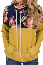 Load image into Gallery viewer, Cowl Neck Floral Pullover
