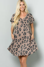 Load image into Gallery viewer, Leopard Burn Out Dress