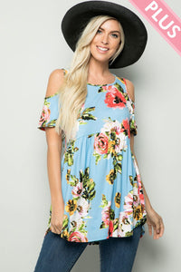 Plus Size Floral Summer Tunic