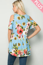 Load image into Gallery viewer, Plus Size Floral Summer Tunic