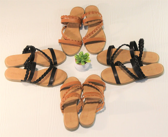 Braided Criss Cross Sandals