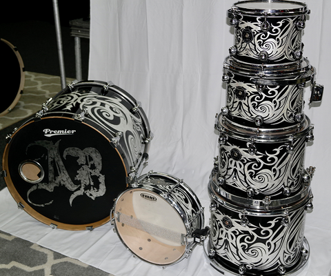 Scott Phillips Drum Kit - Premier Gen-X Series (Custom Tribal Paint)