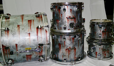 Scott Phillips Drum Kit - Premier (Custom Metal Rust Paint)