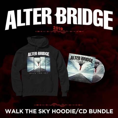 Alter Bridge: Walk the Sky - Broken Cover Hoodie + CD Bundle