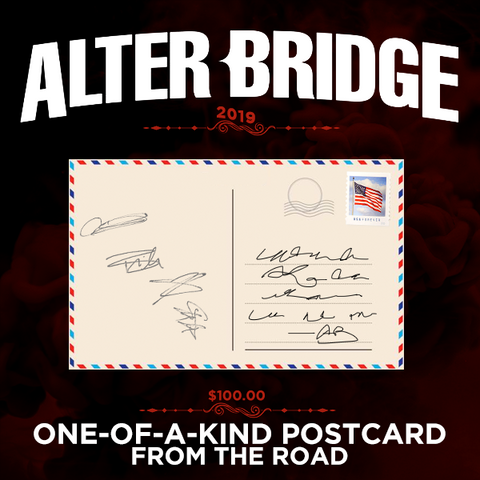 ABVI ONE-OF-A-KIND HANDWRITTEN & SIGNED POSTCARD