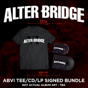 ABVI T-SHIRT AND SIGNED CD/LP BUNDLE
