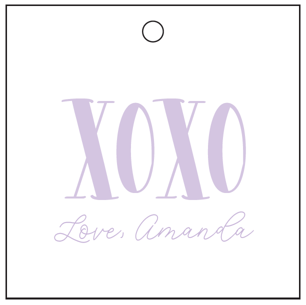 XOXO Square Tags