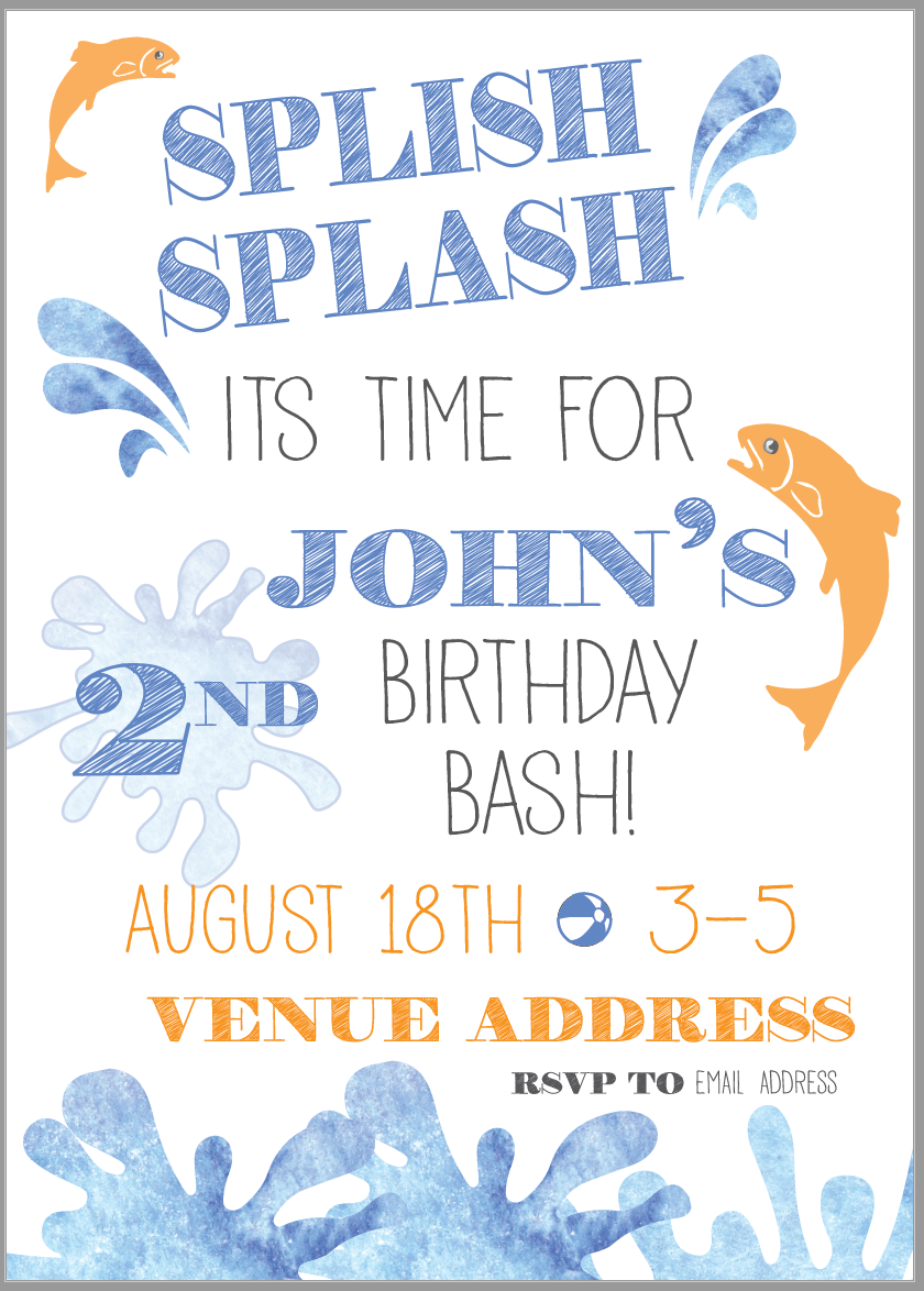 Splish Splash Birthday Bash