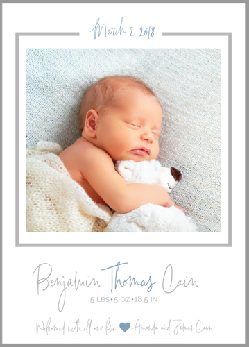 Signature Birth Announcement