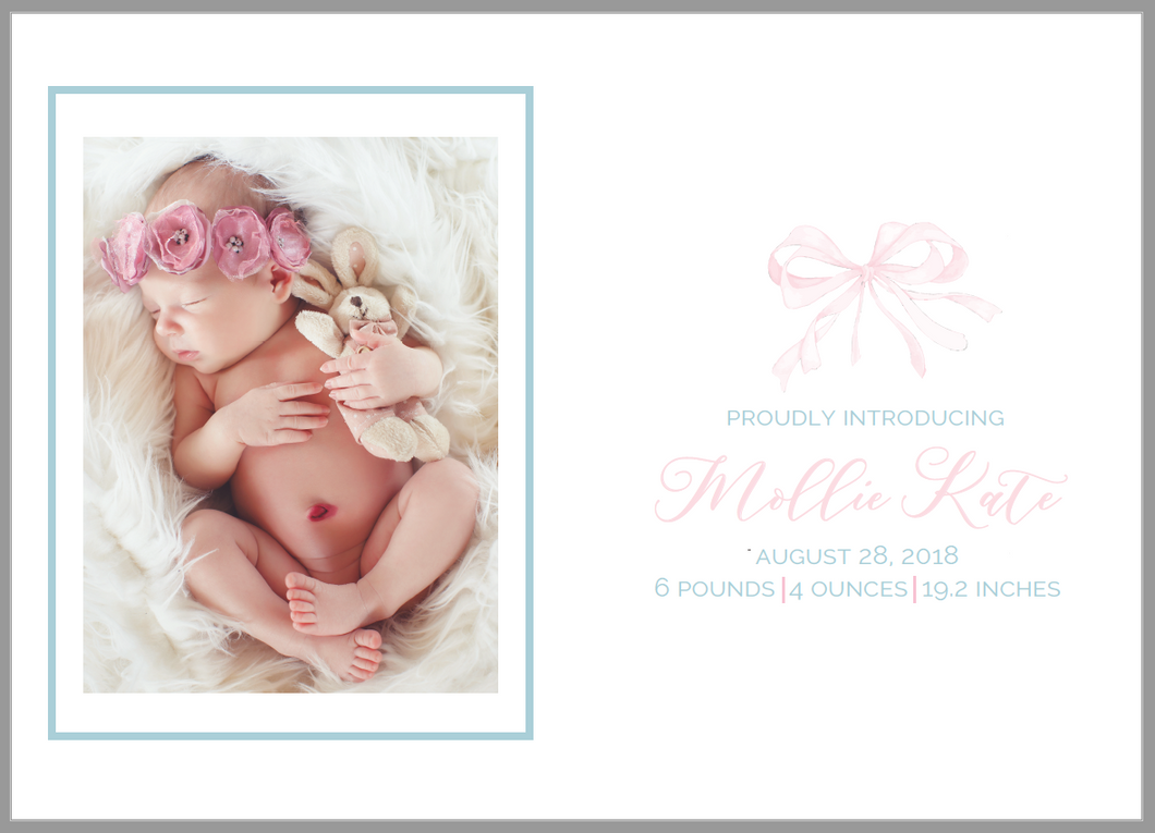 Bow Birth Announcement
