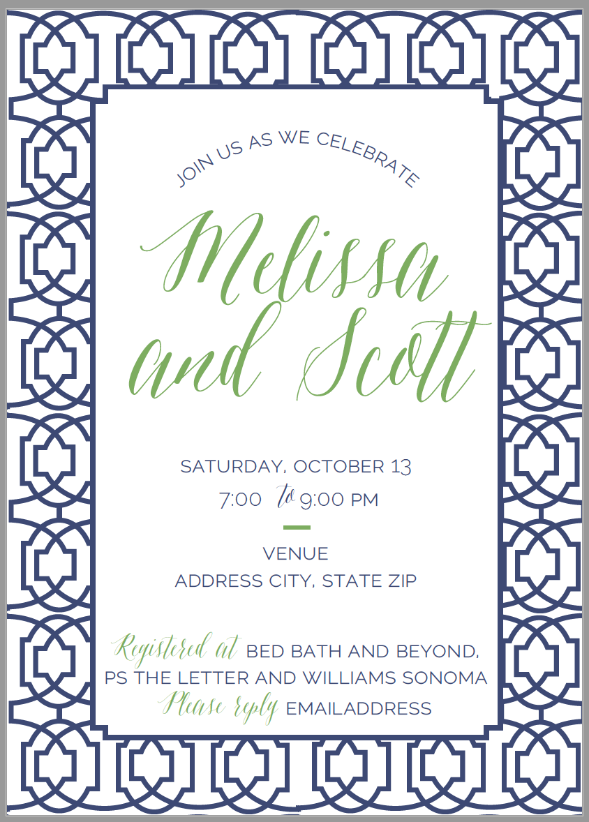 Geometric Party Invite
