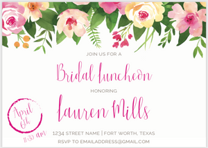 Floral Bridal Luncheon