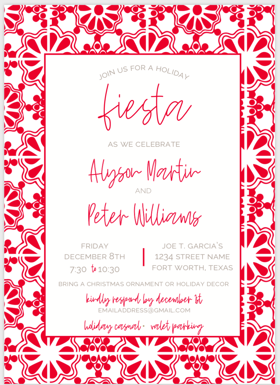 Red Fiesta Invite