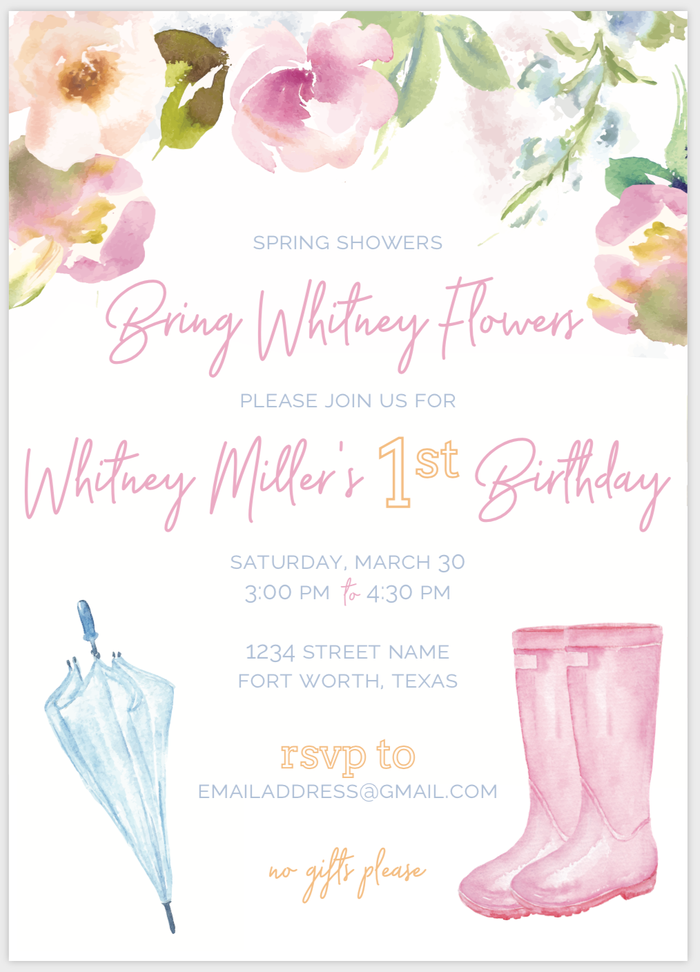 May Flowers Invite