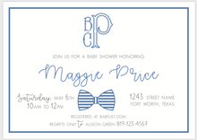 Load image into Gallery viewer, Preppy Bow Tie Invitation
