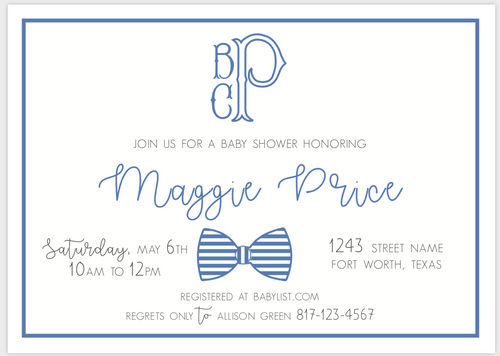 Preppy Bow Tie Invitation