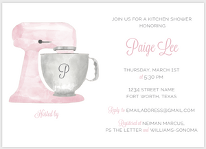Pink Mixer Kitchen Shower Invitation