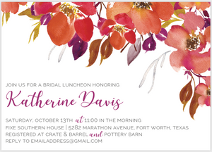 Fall Leaves Invitation