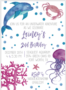Underwater Adventure Party Invitation