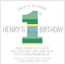 Load image into Gallery viewer, 1st Birthday Invitation