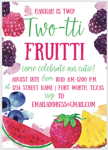 Two-tti Fruitti Invitation