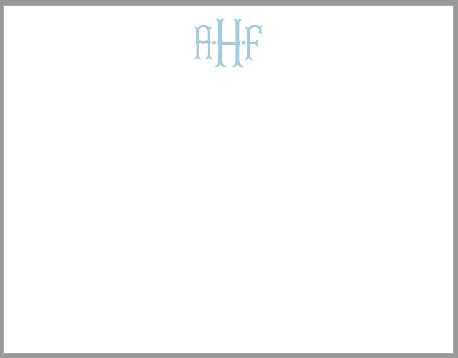 Fishtail Monogram Stationery
