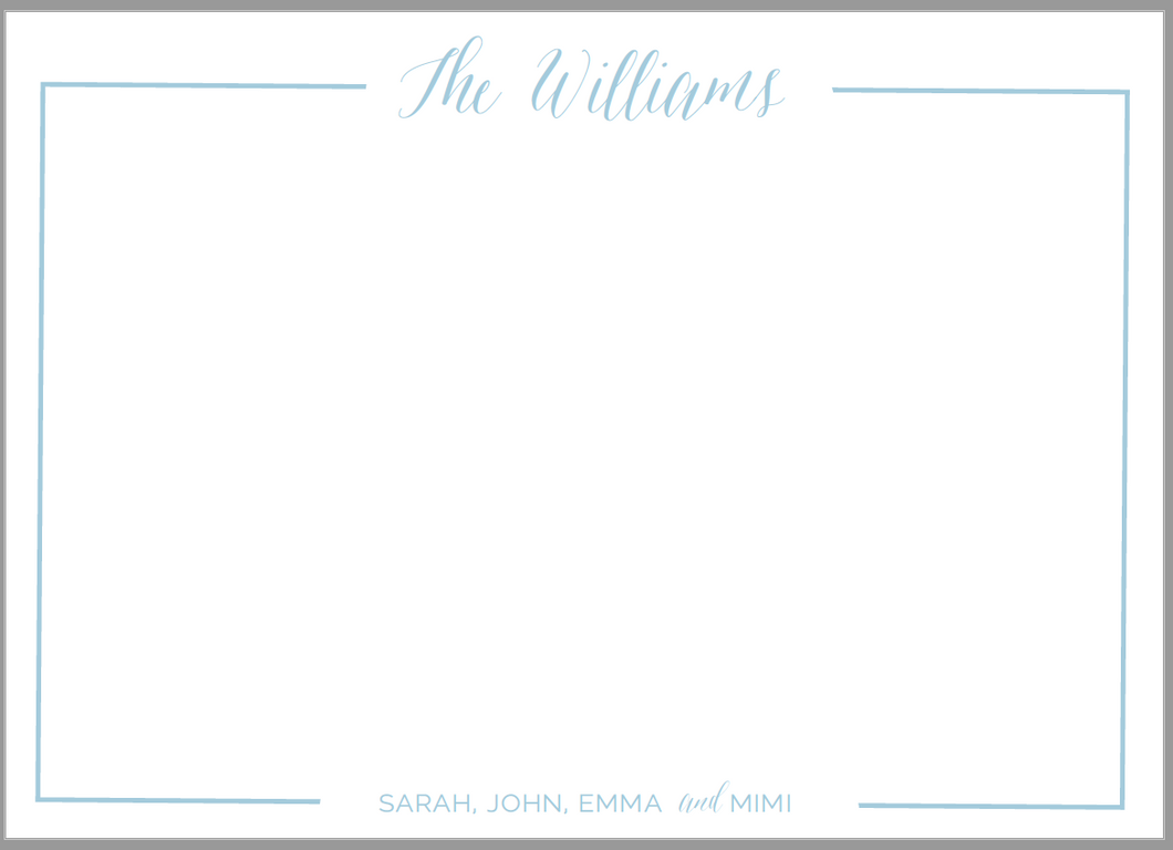 Family Border Stationery