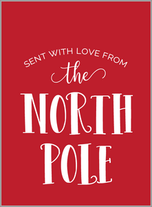 North Pole Tags