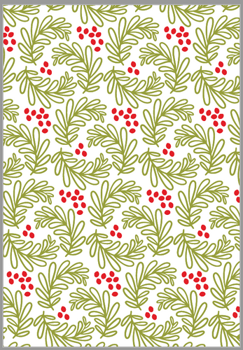 Holly Berries Wrapping Paper