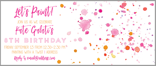 Paint Party Invitation