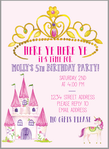 Royal Princess Invitation