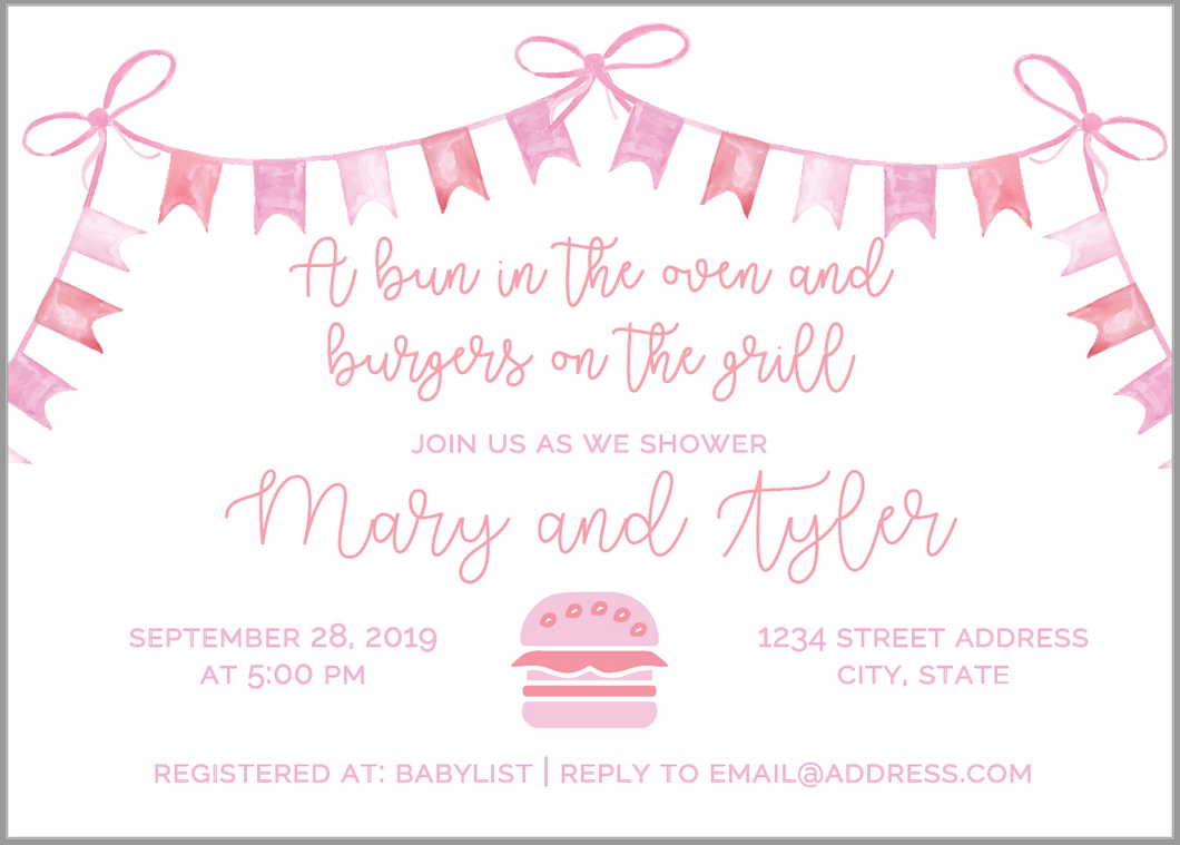 Bun in the Oven Invitation