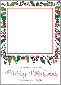 Holly Border Card