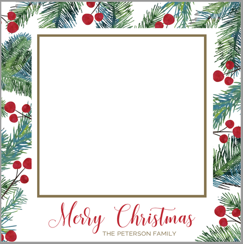 Square Berries Christmas Card