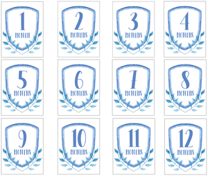 Blue Milestone Cards