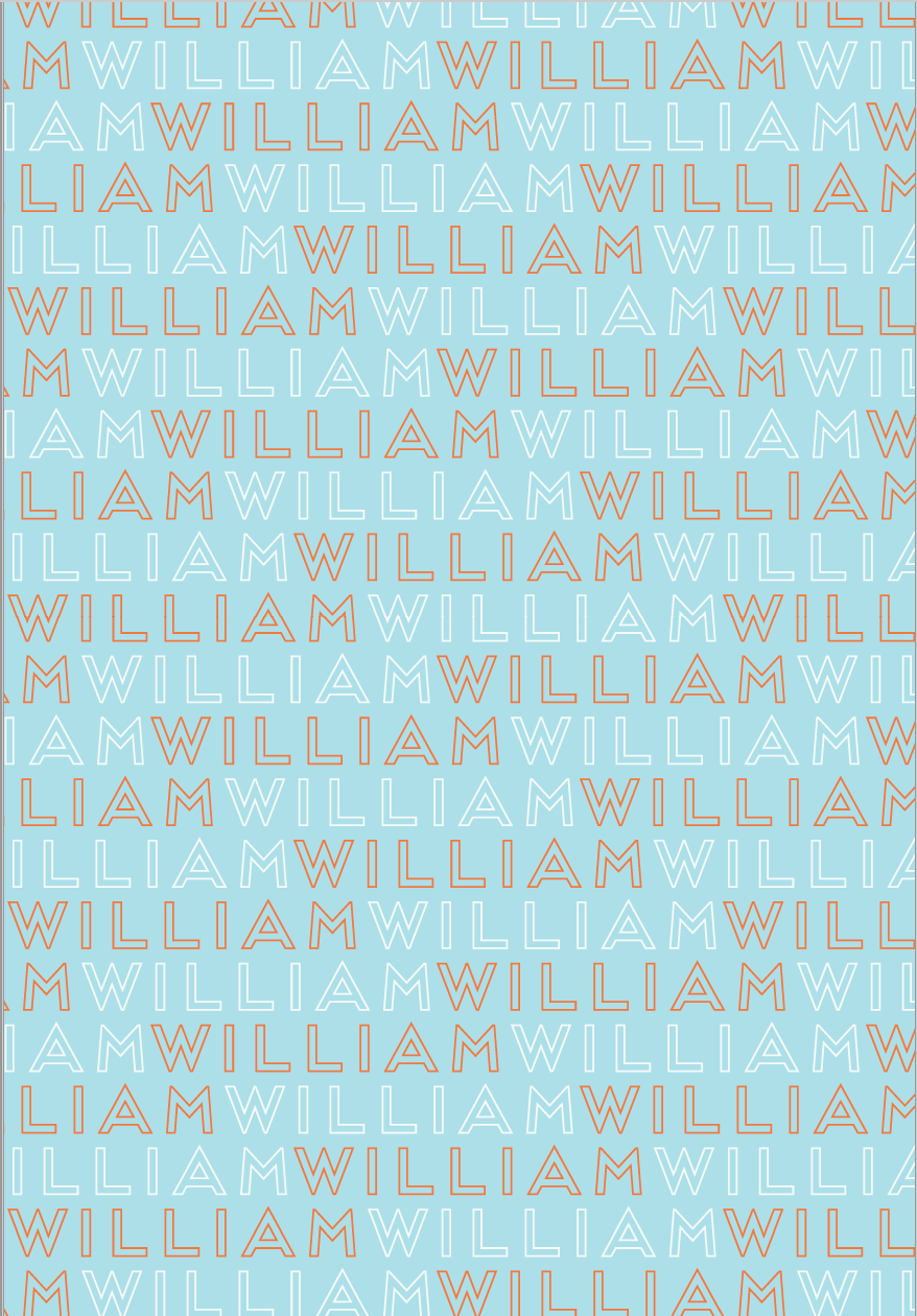 Blue Custom Wrapping Paper
