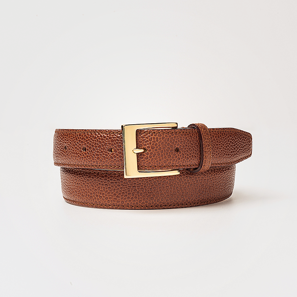 PEBBLE GRAIN BELT Cognac