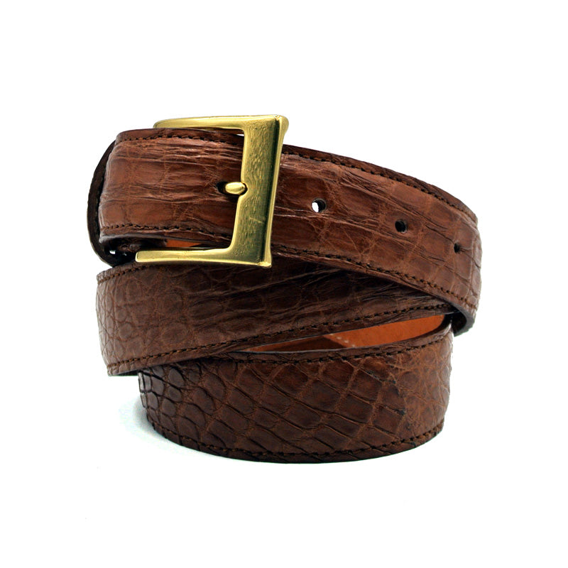 O-0140CG Crocodile Belt Cognac