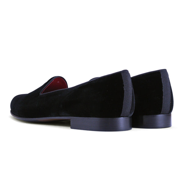 10-101-BLK VELVET TUX Shoe, Black