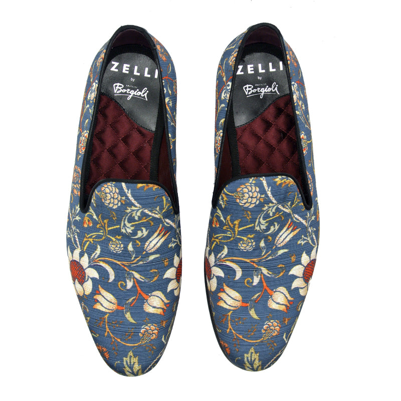 10-515-BLU FANTASIA Floral Slip On, Blue