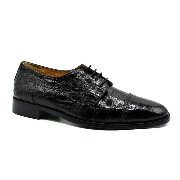 105BL Da Vinci-Crocodile-Black
