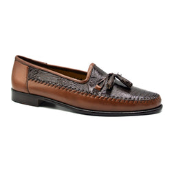 109A-BR KALAHARI Ostrich Leg Two-Tone Brown