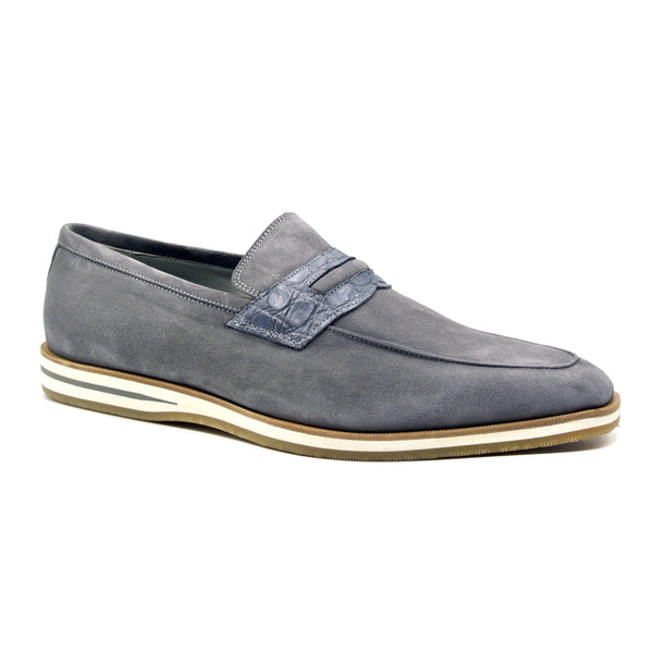 MEO 3 Sueded Goatskin Penny Loafer, Gray