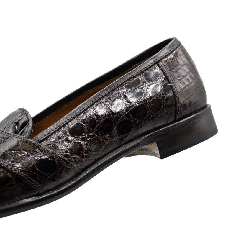 11-119-BRN TUSCANY Crocodile Penny Loafer, Brown