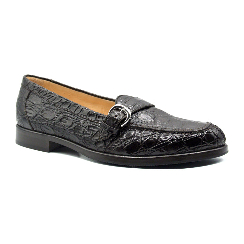 11-593-NIC ORLANDO Crocodile Buckle Loafer, Nicotine