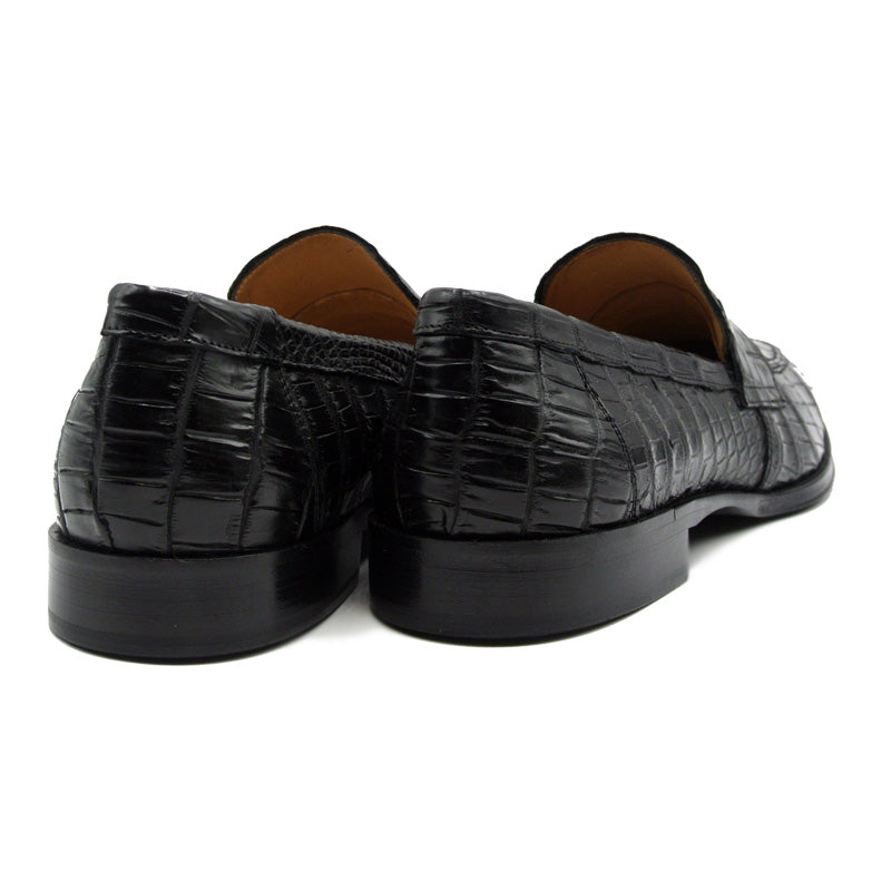 12-100-BLK ROMA Nile Crocodile, Black