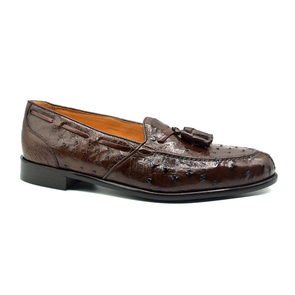 FRANCO Ostrich Tassel Loafer, Brown