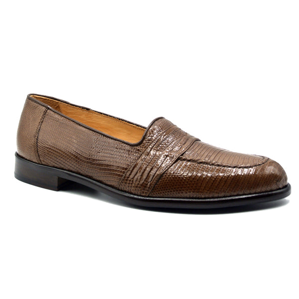 14-202-CGN ROSSI Teju Lizard Penny Loafer, Cognac