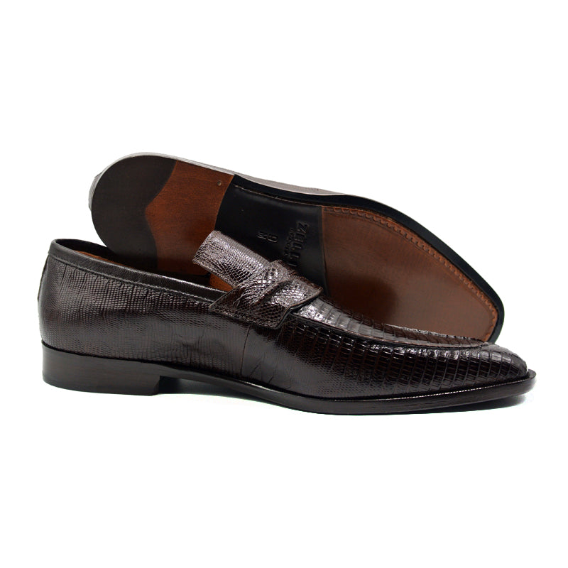 14-589-BRN MEO Teju Lizard Penny Loafer, Brown